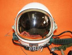 NEW Flight Helmet High Altitude Pilot Protection Helmet Black Sunvisor 2# 1127