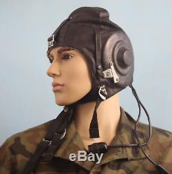 NEW Russian JET Pilot Flight Helmet LEATHER Soviet Cap size 57 AIRFORCE MIG 1988