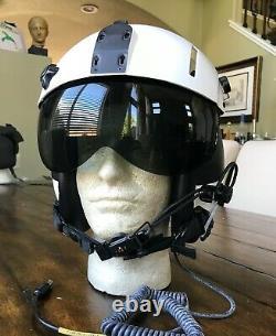 NOS GENTEX HGU 84 PILOT FLIGHT HELMET HGU with Dual Lens SPH ANVIS Visor and Bag