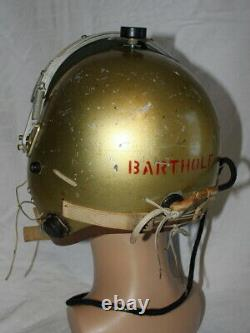 Named USAF MB-4 Flight Helmet F-102 F-101 F-100 Pilot Flying Jet Cold War P-4B
