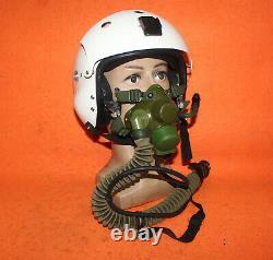 Navy Fighter Pilot Aviation Flight Helmet Oxygen Mask 0707