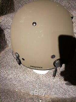 New Gentex Hgu56 Gentex Flight Pilot Helmet & MIC Large Hgu 56p