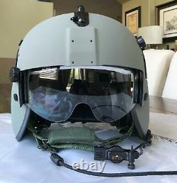 New Gentex Hgu56 Pilot Flight Helmet Maxillofacial Mfs Shield Cep Hgu 56 Large