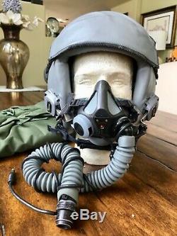 New Hgu55 Gentex Fighter Jet Pilot Flight Helmet Hgu 55/p Mbu20 Oxygen Mask XL