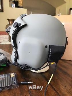 New Hgu56 Gentex Flight Pilot Helmet & Anvis Nvg, Mfs, Cep Light Cobra MIC 56 XL