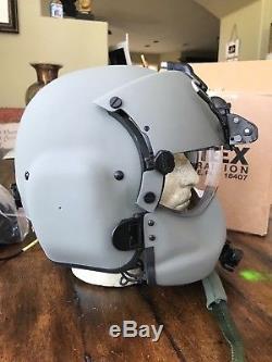 New Hgu56 Gentex Flight Pilot Helmet, Anvis Nvg, Mfs, Cep Light Cobra MIC 56 XL 2