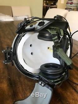 New Hgu56 Gentex Flight Pilot Helmet & Anvis Nvg, Mfs, Cep Ml11, Cobra MIC Lg 1