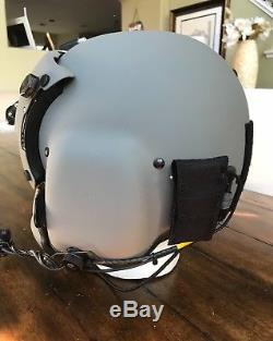 New Hgu56 Gentex Flight Pilot Helmet & Anvis Nvg, Mfs, Cep Ml11, Cobra MIC Lg 2