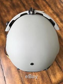 New Hgu56 Gentex Flight Pilot Helmet, Anvis Nvg, Mfs, Tpl, Cep Light MIC 56 XL