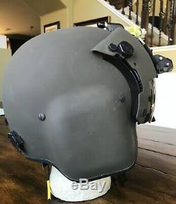 New Hgu56 Gentex Flight Pilot Helmet & Nvg Large Hgu 56