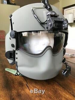 New Hgu56 Gentex Flight Pilot Helmet & Nvg, Mfs, Cep, Cobra MIC Lg Hgu 56