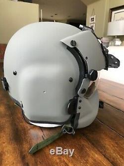 New Hgu56 Gentex Flight Pilot Helmet & Nvg, Mfs, Cep, Cobra MIC XL Hgu 56