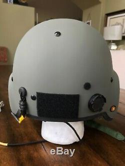 New Hgu56 Gentex Flight Pilot Helmet & Nvg Mfs Tpl Cobra MIC XL Hgu 56