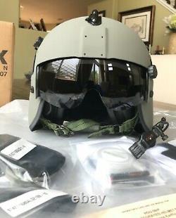 New Hgu56 Gentex Pilot Flight Helmet Loaded Cep Kit Helicopter Hgu Large