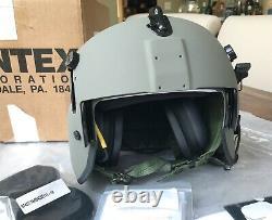 New Hgu56 Gentex Pilot Flight Helmet Loaded Cep Kit Helicopter Hgu Small