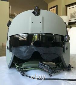 New Large Hgu56p Pilot Flight Helmet Maxillofacial Mfs Shield Cep Kit Hgu 56