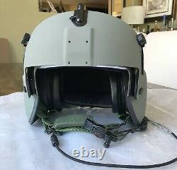 New Medium Hgu56p Pilot Flight Helmet Maxillofacial Mfs Shield Cep Kit Hgu 56