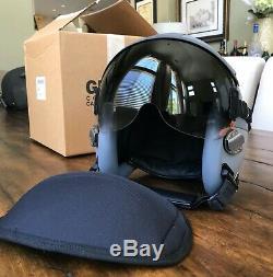 New XL Hgu55 Gentex Pilot Flight Helmet & Bag Hgu 55