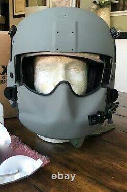 Nos Large Hgu56 Helicopter Pilot Flight Helmet Mfs Shield Hgu 56