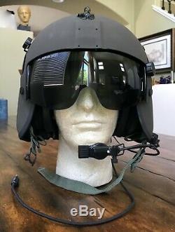 Nos Rare Black Hgu56 Gentex Flight Pilot Helmet Hellicopter Hgu 56