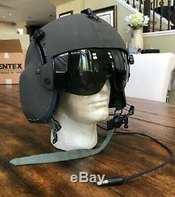 Nos Rare Black Hgu56 Gentex Flight Pilot Helmet Hgu 56