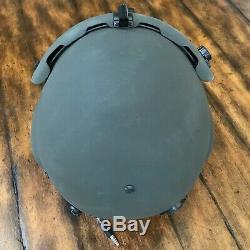 Nos Rare Black Hgu56 Gentex Flight Pilot Helmet & Lip Light Ml-8 Medium Hgu 56