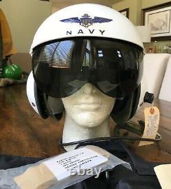 Nos Usn Navy Gentex Sph-3b Helicopter Pilot Flight Helmet And Bag Sph