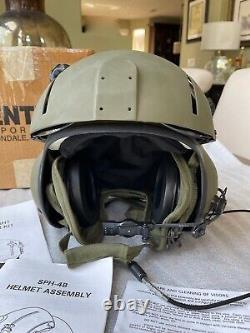Nos XL Gentex Sph-4 Helicopter Pilot Flight Helmet Sph-4b