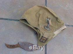 ORIGINAL WWII PILOT CADET FLIGHT HELMET With GOSPORT TUBES