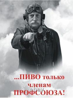 Old WW2 Soviet Russian Helmet Pilot Flight bomber Sea Aviation Headset Very RARE