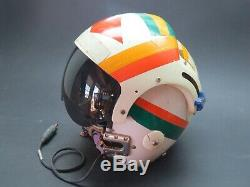 Original 1971 Navy Pilot's Sierra Eng. APH-6C Dual Visor Flight Helmet Named