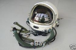 Original MiG Fighter Pilot Flight Helmet Tk-4A, Sun-visor, Oxygen Mask