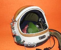 Original Named High Altitude Pressure Pilot Flight Helmet SizeO# XXXL 0010