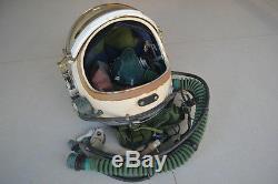 Original Navy Aircraft Carrier Fighter Pilot Flight Helmet, Combined Rescue Suit