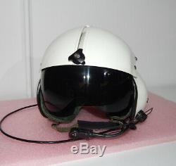 Original Polish Air Force Pilot Flight Helmet THL-5C Poland RARE