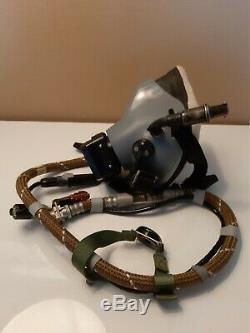Oxygen Mask Pilot Km-35 For Zsh-7 Flight Helmet. Rare