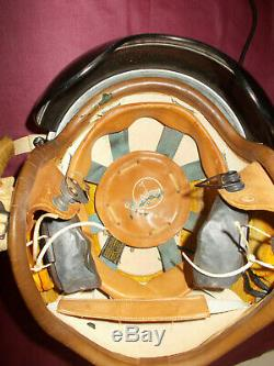 P-4b Usaf Us Air Force Pilot Flight Flying Helmet Mask Headset Microphone 1959
