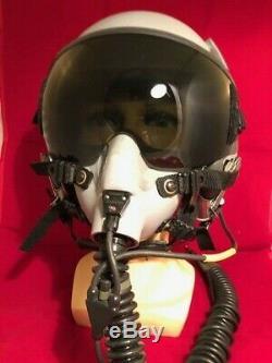 PILOT FLIGHT HELMET GENTEX HGU-55, and MBU-12 OXYGEN MASK
