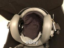 PILOT FLIGHT HELMET GENTEX HGU-55, and MBU-12 OXYGEN MASK