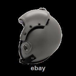 Plain Grey Flight Helmet Movie Prop Of Usn United States Navy Pilot Aviator