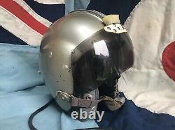 RAF 1962 Mk1A Fighter Pilots Flying Flight Helmet Type G Liner 5 Squadron Meteor