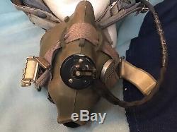 RAF Mk1A Cold War Fighter Pilots Flying Flight Helmet Oxygen Mask Type G Not WW2