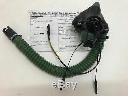 RAF Sepecat Jaguar Aircraft Pilot Flight Helmet Oxygen Mask V12