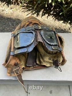 RAF Type B Flight Helmet MK IV Goggles Battle Of Britain Spritfire Pilot