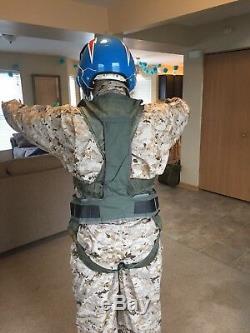RARE F-14 Tomcat Fighter Pilot's MA-2 Torso Harness Vest & LPU no Flight Helmet