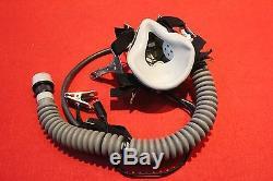 RARE Flight Helmet Air Force Pilot Helmet OXYGEN MASK FREE SHIPPING