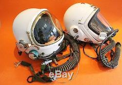 RARE Flight Helmet High Altitude Astronaut Space Pilots Pressured Two Helmet