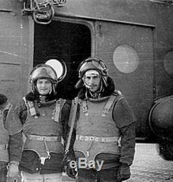 RARE! RUSSIAN SOVIET HELICOPTER PILOT FLIGHT ARMOR HELMET ZSh-3B