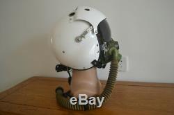 Rare Air Force F-11B Fighter Pilots Flight Helmet, Sun-visor, Oxygen Mask(Ym-6)