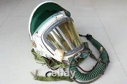 Rare Air Force Fighter Pilot Flight Helmet // Yellow Face Shield //